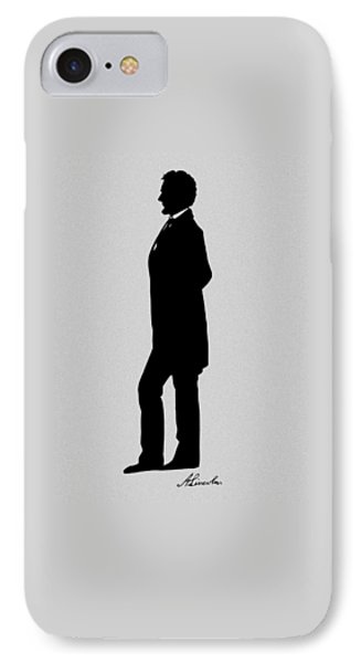 Lincoln Silhouette And Signature IPhone Case by War Is Hell Store