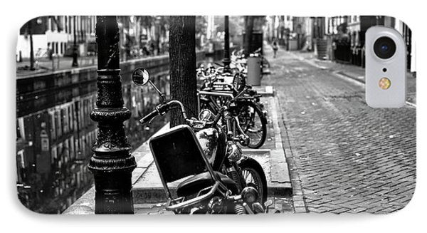 Lines In Amsterdam Mono IPhone Case by John Rizzuto