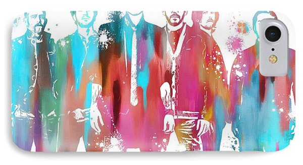 Linkin Park Watercolor Paint Splatter IPhone 7 Case by Dan Sproul