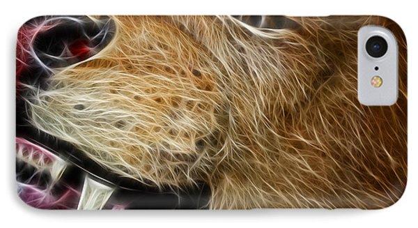 Lion Fractal Phone Case by Shane Bechler