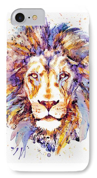 Lion Head IPhone Case by Marian Voicu