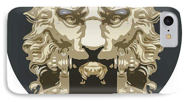 Lion Knocker IPhone Case by Greg Joens