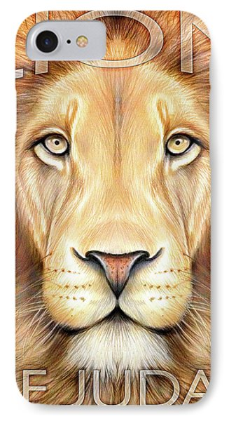 Lion Of Judah IPhone Case by Greg Joens