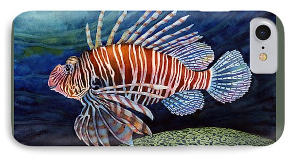 Lionfish IPhone Case by Hailey E Herrera