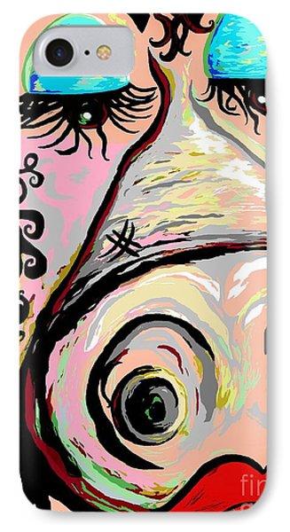 Lipstick On A Pig Phone Case by Eloise Schneider