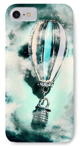 Little Hot Air Balloon Pendant And Clouds IPhone Case by Jorgo Photography - Wall Art Gallery