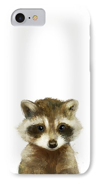 Little Raccoon IPhone Case by Amy Hamilton