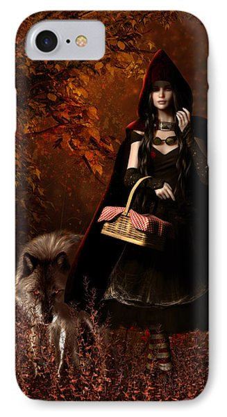 Little Red Riding Hood Gothic IPhone Case by Shanina Conway