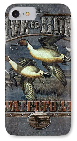 Live To Hunt Pintails IPhone Case by JQ Licensing