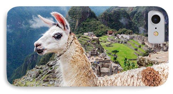 Llama At Machu Picchu IPhone 7 Case by Jess Kraft