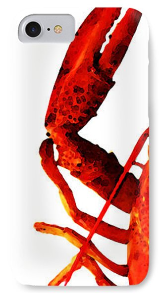 Lobster - The Left Side Phone Case by Sharon Cummings