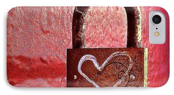 Lock/heart IPhone Case by Julie Gebhardt