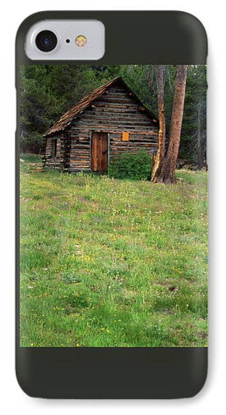 Log Cabin - Casa Vieja Meadow IPhone Case by Soli Deo Gloria Wilderness And Wildlife Photography