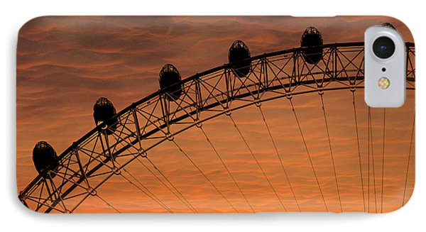London Eye Sunset IPhone 7 Case by Martin Newman