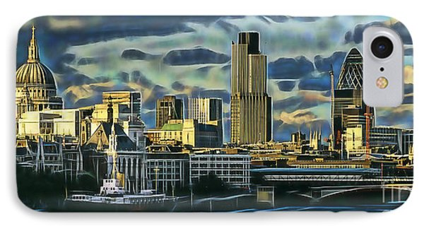 London Skyline Collection IPhone Case by Marvin Blaine