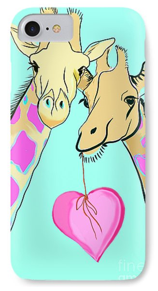 Long Neck Love IPhone 7 Case by Susie Cunningham