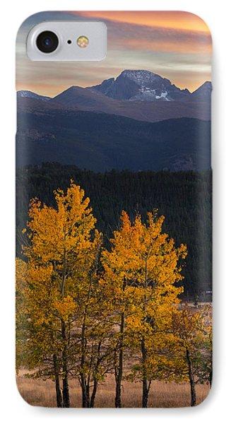 Longs Peak From Moraine Park - Fall IPhone Case by Aaron Spong