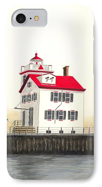 Lorain Lighthouse Phone Case by Michael Vigliotti