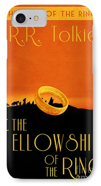 Lord Of The Rings Fellowship Of The Ring Book Cover Movie Poster IPhone Case by Nishanth Gopinathan