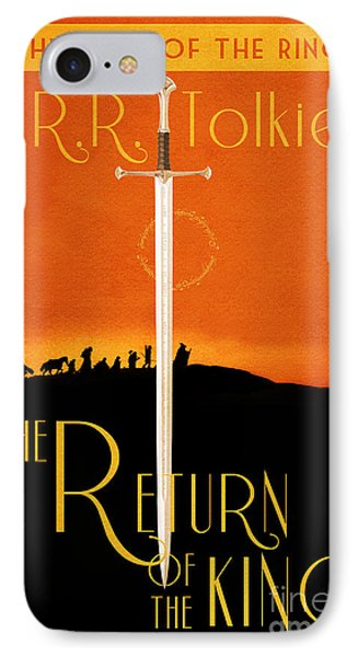 Lord Of The Rings The Return Of The King Book Cover Movie Poster IPhone Case by Nishanth Gopinathan