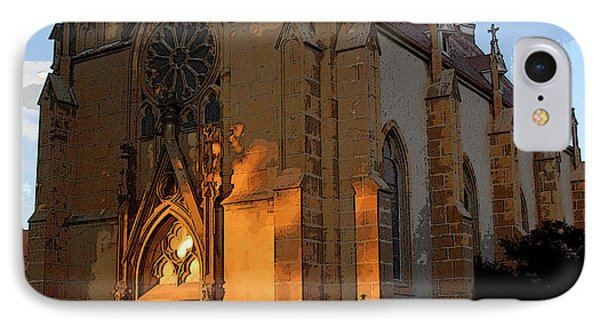 Loretto Chapel 1878 IPhone Case by David Lee Thompson