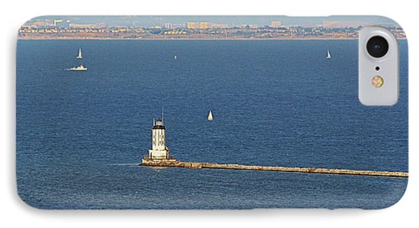 Los Angeles Harbor Light - Angel's Gate - California Phone Case by Christine Till