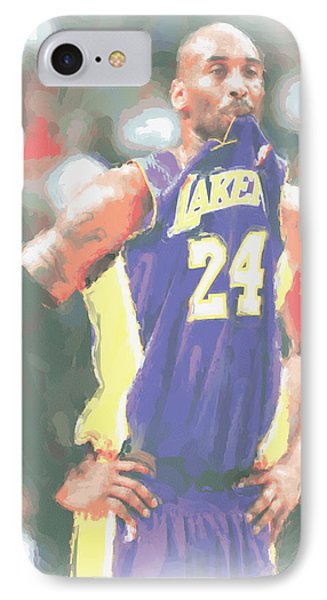 Los Angeles Lakers Kobe Bryant 3 IPhone Case by Joe Hamilton