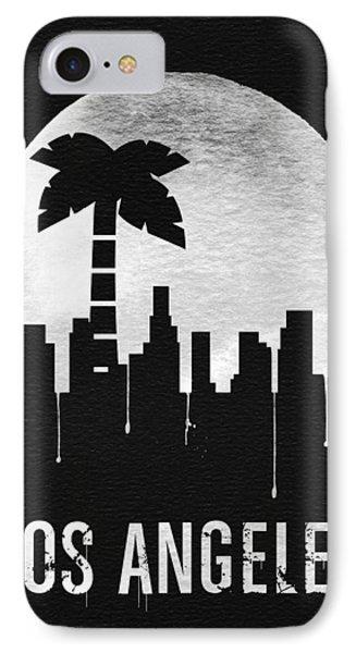 Los Angeles Landmark Black IPhone Case by Naxart Studio