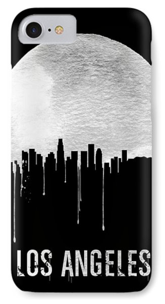 Los Angeles Skyline Black IPhone Case by Naxart Studio