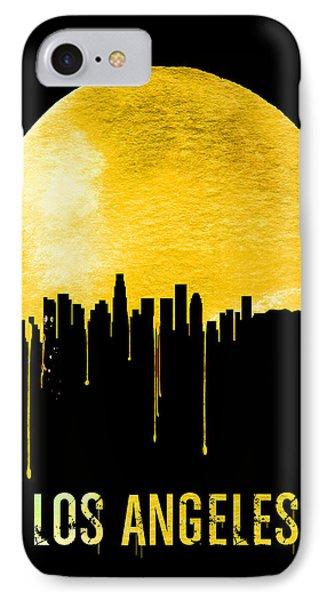 Los Angeles Skyline Yellow IPhone Case by Naxart Studio
