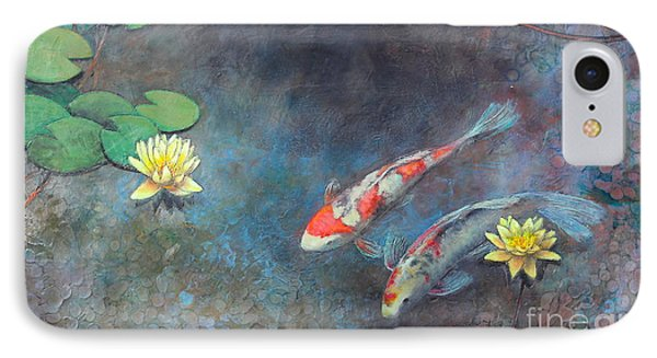 Lotus Pool IPhone Case by Lori McNee