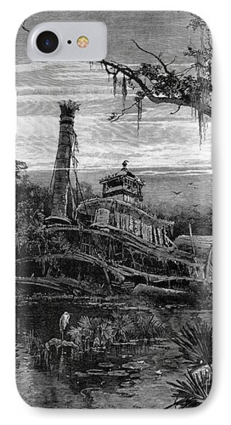 Louisiana: Steamboat Wreck Phone Case by Granger