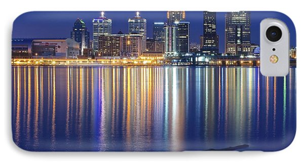 Louisville During Blue Hour IPhone Case by Frozen in Time Fine Art Photography