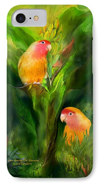 Love Among The Bananas IPhone 7 Case by Carol Cavalaris