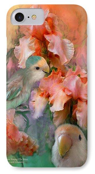 Love Among The Irises IPhone Case by Carol Cavalaris