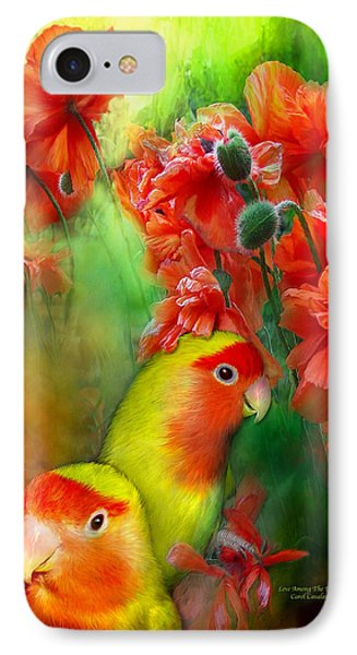 Love Among The Poppies IPhone Case by Carol Cavalaris