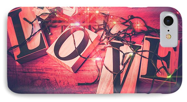 Love Birds And Wooden Sentiments IPhone Case by Jorgo Photography - Wall Art Gallery