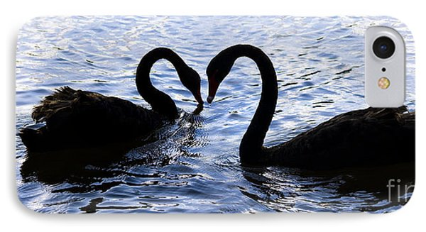 Love Birds On Swan Lake IPhone Case by Jorgo Photography - Wall Art Gallery