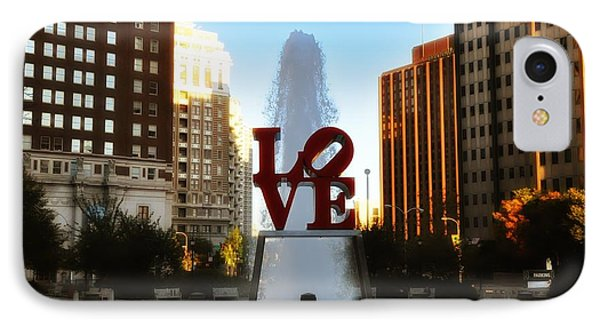 Love Park - Love Conquers All IPhone Case by Bill Cannon