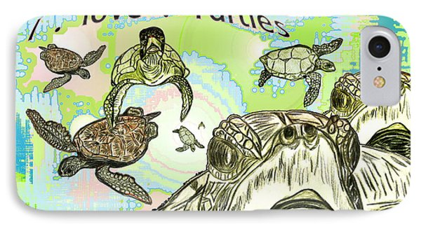 'love Sea Turtles IPhone Case by W Gilroy