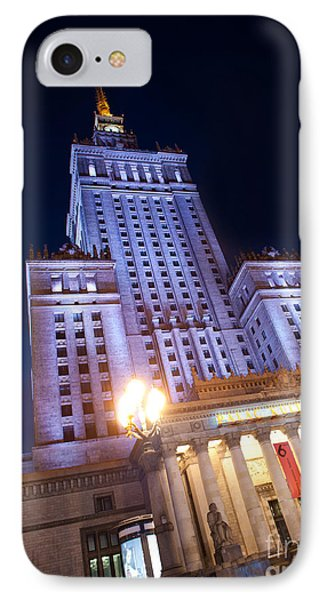 Low Angle View At Pkin Building IPhone Case by Arletta Cwalina
