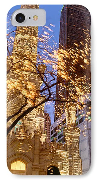 Low Angle View Of An Illumined Tower IPhone Case by Panoramic Images