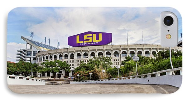 Lsu Tiger Stadium IPhone Case by Scott Pellegrin
