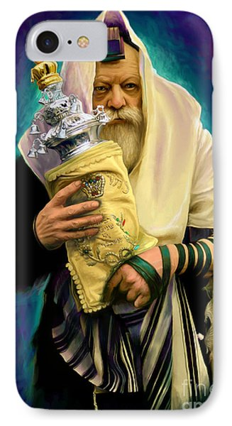 Lubavitcher Rebbe With Torah Phone Case by Sam Shacked