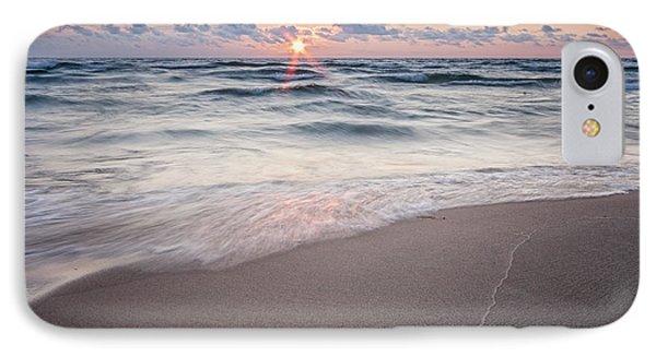 Ludington Beach Sunset IPhone Case by Adam Romanowicz