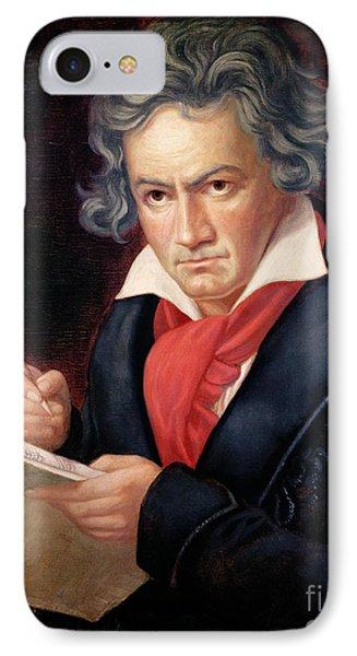 Ludwig Van Beethoven Composing His Missa Solemnis IPhone Case by Joseph Carl Stieler