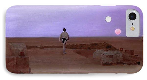 Luke Double Sunset IPhone Case by Mitch Boyce