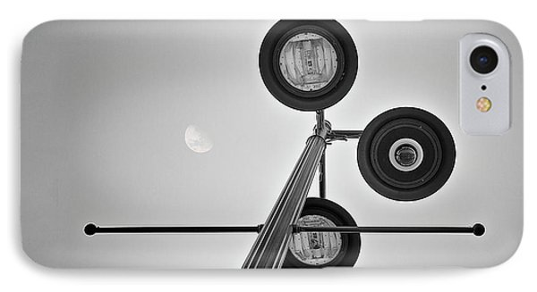 Lunar Lamp In Black And White IPhone Case by Tom Mc Nemar