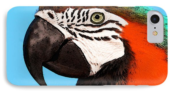 Macaw Bird - Rain Forest Royalty IPhone 7 Case by Sharon Cummings