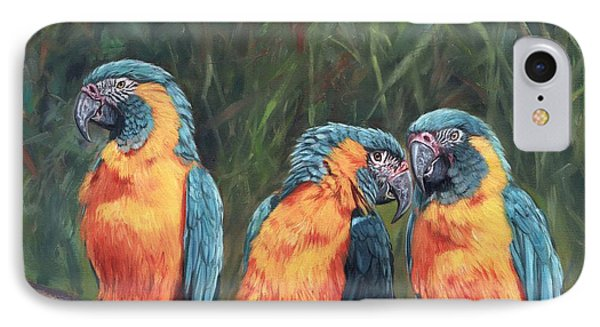 Macaws IPhone Case by David Stribbling